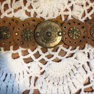 Genuine Leather Made in USA Concha belt